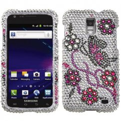 Samsung Galaxy S2 Skyrocket Elegant Butterfly Diamante Case