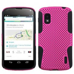 LG Nexus 4 Hot Pink/Black Astronoot Case