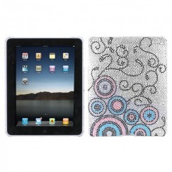 AppleiPad 1st Generation 2010 Bubble Flow Diamante Back Case