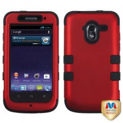 ZTE Avid 4G Titanium Red/Black Hybrid Case