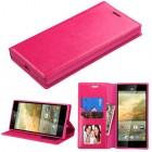 ZTE Warp Elite Hot Pink Wallet(with Tray)