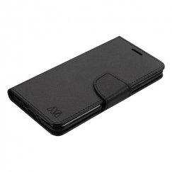 LG K8 / Phoenix 3 Black Pattern/Black Liner wallet with Card Slot