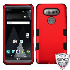 LG V20 Titanium Red/Black Hybrid Case