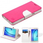 Samsung Galaxy On5 Hot Pink Pattern/White Liner wallet with Card Slot