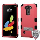 LG G Stylus 2 Natural Pink/Black Hybrid Case with Stand