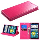 ZTE Grand X Max / Grand X Max Plus Hot Pink Wallet with Tray