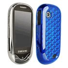 Samsung SGH-A697 Sunburst case 2 pack. Both Clear and Blue Soft cases included.