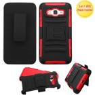 Samsung Galaxy Grand Prime Black/Red Advanced Armor Stand Case with Black Holster