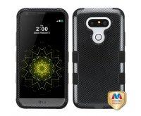 Carbon Fiber/Black TUFF Hybrid Phone Protector Cover