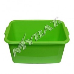 Plastic Storage Box-1# (L=16.75*W=11.50*D=9.00 inch) (Green)