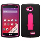 LG Tribute Hot Pink/Black Symbiosis Stand Protector Cover