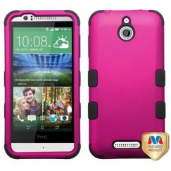 HTC Desire 510 Titanium Solid Hot Pink/Black Hybrid Case