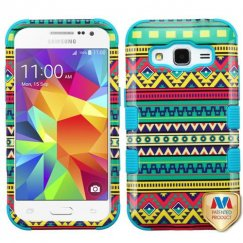 Samsung Galaxy Core Prime Tribal Sun/Tropical Teal Hybrid Case