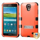 Samsung Galaxy Mega 2 Natural Orange/Black Hybrid Phone Protector Cover (with Stand)