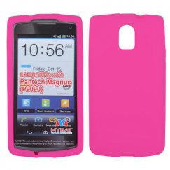 Pantech Discover Solid Skin Cover - Hot Pink
