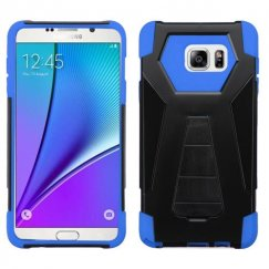 Samsung Galaxy Note 5 Blue Inverse Advanced Armor Stand Case