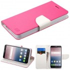 Alcatel Fierce 4 / Pop 4 Plus / Allura Hot Pink Pattern/White Liner wallet with Card Slot