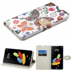 LG G Stylus 2 Butterfly Wonderland Diamante Wallet(with Diamante Belt)