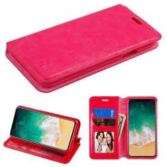 Apple iPhone X Hot Pink Wallet with Tray