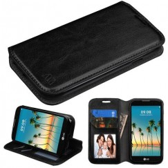 LG K3 Black Wallet(with Tray) -WP