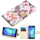 Samsung Galaxy On5 Butterfly Wonderland Diamante Wallet with Diamante Belt