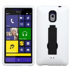 HTC Windows Phone 8x Black/White Symbiosis Stand Case