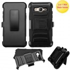 Samsung Galaxy On5 Black/Black Advanced Armor Stand Protector Cover (With Black Holster)