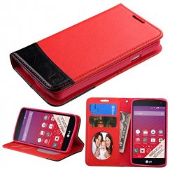 LG Tribute Red/Black wallet with Card Slot