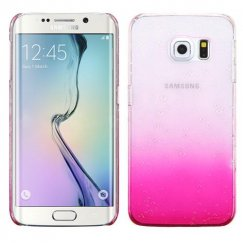 Samsung Galaxy S6 Edge Transparent Hot Pink Gradient Water Drop Back Case