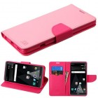 LG V20 Pink Pattern/Hot Pink Liner Wallet (with card slot)