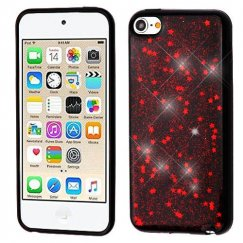Apple iPod Touch (6th Generation) Red Starry Sky (Black) Krystal Gel Series Candy Skin Cover