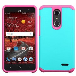 ZTE Grand X 4 Teal Green/Hot Pink Astronoot Phone Protector Cover