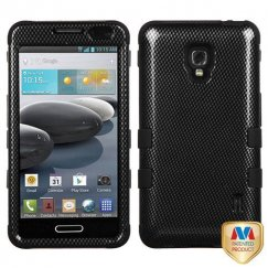 LG Optimus F6 Carbon Fiber/Black Hybrid Case