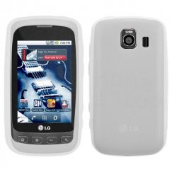 LG Optimus S Solid Skin Cover - Translucent White