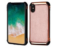 Rose Gold Lychee Grain(Rose Gold Plating)/Black Astronoot Protector Cover