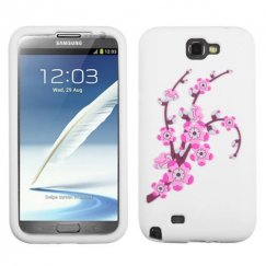 Samsung Galaxy Note 2 Spring Flowers/White Pastel Skin Cover