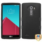 LG G4 Rubberized Black/Black Hybrid Case