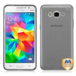Samsung Galaxy Grand Prime Glassy Transparent Gray SPOTS Candy Skin Cover