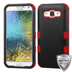 Samsung Galaxy E5 Natural Black/Red Hybrid Case