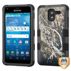 Kyocera Hydro Reach / Hydro View Yellow/Black Vine/Black Hybrid Case
