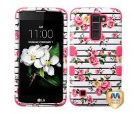 Pink Fresh Roses/Electric Pink TUFF Hybrid Phone Protector Cover
