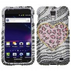Samsung Galaxy S2 Skyrocket Playful Leopard Diamante Case