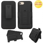Apple iPhone 7 Black/Black Advanced Armor Stand Protector Cover (With Black Holster)
