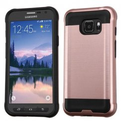 Samsung Galaxy S7 Active Rose Gold/Black Brushed Hybrid Case