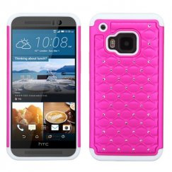 HTC One M9 Hot Pink/Solid White FullStar Case