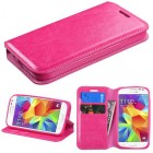 Samsung Galaxy Core Prime Hot Pink Wallet(with Tray)