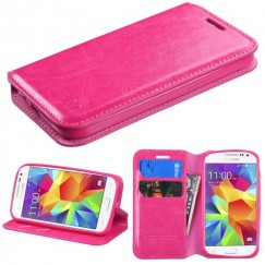 Samsung Galaxy Core Prime Hot Pink Wallet with Tray