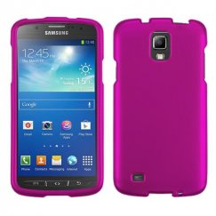 Samsung Galaxy S4 Active SGH-i537 Titanium Solid Hot Pink Case