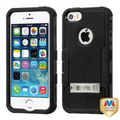 Apple iPhone 5s Natural Black/Black Hybrid Case with Stand