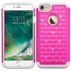Apple iPhone 7 Hot Pink/Solid White FullStar Case